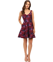 Nicole Miller - Wildflowers Jacquard Fit and Flare Dress