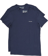 Columbia - Cotton Stretch Crew T-Shirt 2-Pack