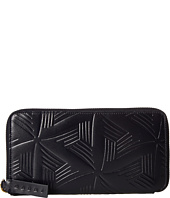 MARNI - Flower Embossed Calf Leather Card Wallet