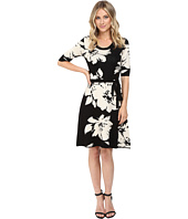 Christin Michaels - Jainne Floral Sweater Dress with Belt