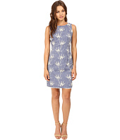Christin Michaels - Evie Chambray Embroidered Shift Dress