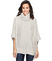 Christin Michaels - Feya Fringe Turtleneck Poncho