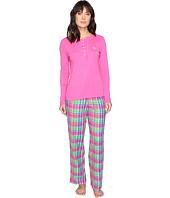 LAUREN Ralph Lauren - Henley Top Flannel Pants PJ Set