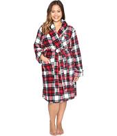 LAUREN Ralph Lauren - Plus Size Folded So Soft Terry Short Robe