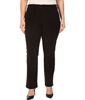 NYDJ Plus Size - Plus Size Marilyn Straight Jeans in Corduroy in Molasses