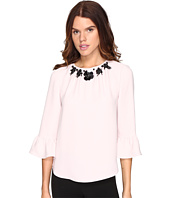 Kate Spade New York - Embellished Crepe Top