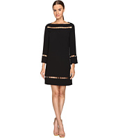 Versace Collection - Long Sleeve Boat Neck Dress