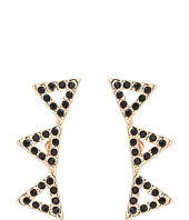 Rebecca Minkoff - Pave Triangle Ear Climber Earrings