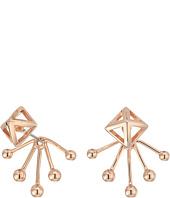 Rebecca Minkoff - Pyramid Fan Back Ear Jacket Earrings