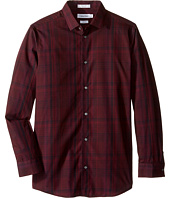 Calvin Klein Kids - Long Sleeve Conversion Plaid Shirt (Big Kids)