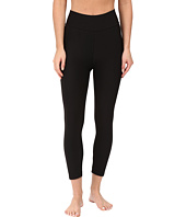 Plush - Fleece-Lined Cropped Athletic Leggings with Hidden Pocket