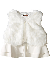 Ella Moss Girl - Loren Fur Ruffle Vest (Big Kids)