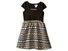 Cap Sleeve Beaded Neckline w/ Full Skirt (Big Kids)