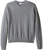 Lacoste Kids - Solid V-Neck Sweater (Toddler/Little Kids/Big Kids)