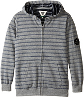 VISSLA Kids - Fine Point Fleece Zip Hoodie (Big Kids)