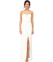 Badgley Mischka - Strapless Asymmetrical Draped Gown