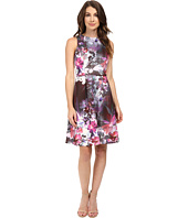 Adrianna Papell - Placed Print Fit & Flare Scuba Dress