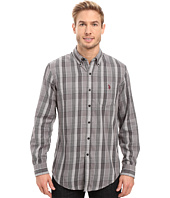 U.S. POLO ASSN. - Long Sleeve Classic Fit Plaid Peached Twill Button Down Sport Shirt