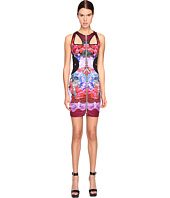 Versace Jeans - Sleeveless Cut Out Printed Dress