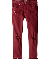 Hudson Kids - Lily Moto Five-Pocket Zipper Ankle Skinny with Fray Hem in Net Red (Toddler/Little Kids)