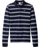 Lacoste Kids - Long Sleeve Stripe Pique Polo (Toddler/Little Kids/Big Kids)