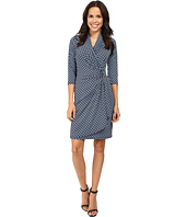 Karen Kane - 3/4 Sleeve Cascade Wrap Dress