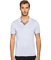 Vince - Wool Silk Jersey Short Sleeve Polo with Tipping
