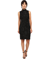 Adrianna Papell - Mock Turtleneck Beaded Sheath
