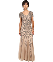 Adrianna Papell - Short Sleeve Beaded Gown