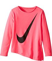Nike Kids - Dri-Fit Long Sleeve Side Slit Top (Little Kids)