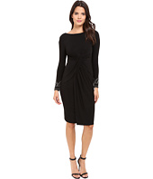Vince Camuto - Beaded Long Sleeve Dress with Front Shirring
