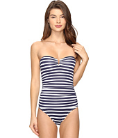 Tommy Bahama - Breton Stripe V-Front Underwire Bandeau One-Piece Swimsuit