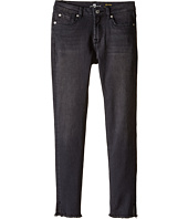7 For All Mankind Kids - The Ankle Skinny Stretch Denim Jeans with Vented Raw Hem in Charcoal (Big Kids)