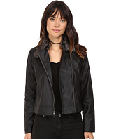 Jack by BB Dakota - Leonce Textured Faux Leather Jacket w/ Removable Faux Fur Collar