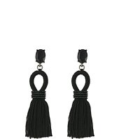 Oscar de la Renta - Short Silk Tassel C Earrings