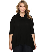 Karen Kane Plus - Plus Size Cowl Neck Handkerchief Top