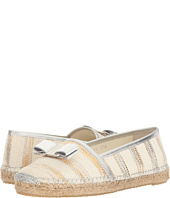 Salvatore Ferragamo - Striped Canvas/Suede Espadrille