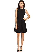 Christin Michaels - Keira Fit and Flare Dress with Whipstitch Detail