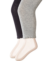Jefferies Socks - Scalloped Pima Cotton Footless Tights 2-Pair Pack (Toddler/Little Kid/Big Kid)