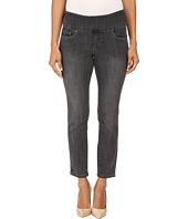 Jag Jeans Petite - Petite Amelia Pull-On Ankle in Comfort Denim in Thunder Grey/Destroy