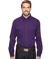 Roper - 0709 Black Fill Poplin - Purple Button