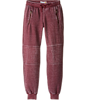 C&C California Kids - Burnout Fleece Joggers with Quilting and Exposed Zippers (Little Kids/Big Kids)