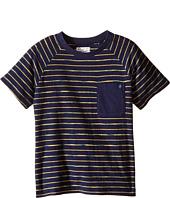 Lucky Brand Kids - Space Dye Striped Tee w/ Front Pocket (Little Kids/Big Kids)