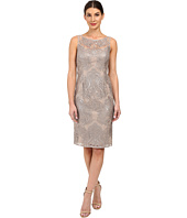 Adrianna Papell - Sequin Embroidered Lace Sheath Dress