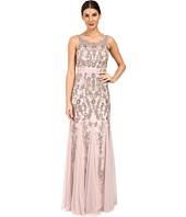 Adrianna Papell - Sleeveless Illusion Yoke Gown with Godets