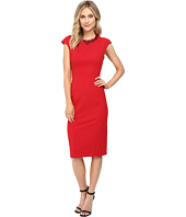 Maggy London - Crepe Scuba Sheath Dress with Embellished Neck