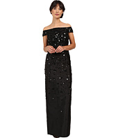 Adrianna Papell - Fully Beaded Off Shoulder Gown