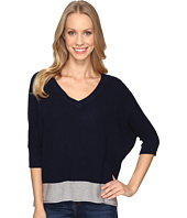 Mod-o-doc - Fully Fashion Sweater V-Neck Waffle Stitch Sweater
