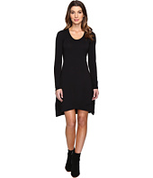 Mod-o-doc - Cotton Modal Spandex Jersey Crossover Hem Dress