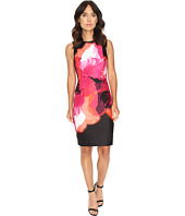 Calvin Klein - Sleeveless Printed Sheath Dress